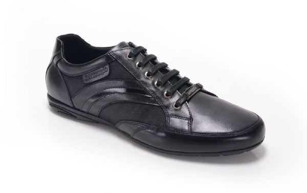 Bambooa Form  Black Leather Mens Designer Casual Shoes Trainers New RRP £85